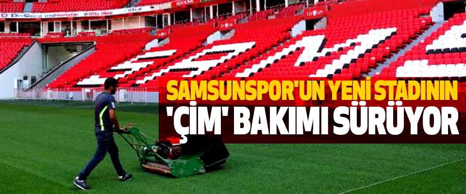 Samsunspor'un Yeni Stadının 'Çim' Bakımı Sürüyor