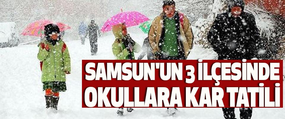 Samsun'un 3 İlçesinde Okullara Kar Tatili