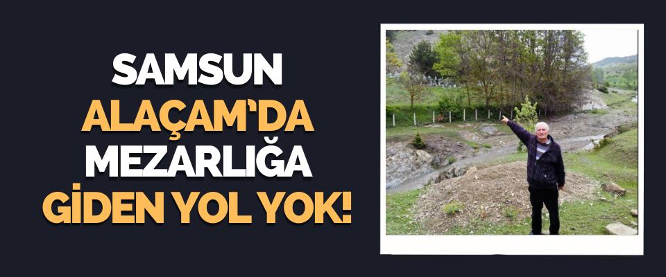 Samsun'un Alaçam'da Mezarlığa Giden Yol Yok!