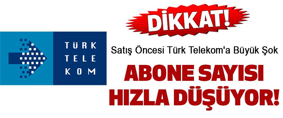 Satış Öncesi Türk Telekom'a Büyük Şok