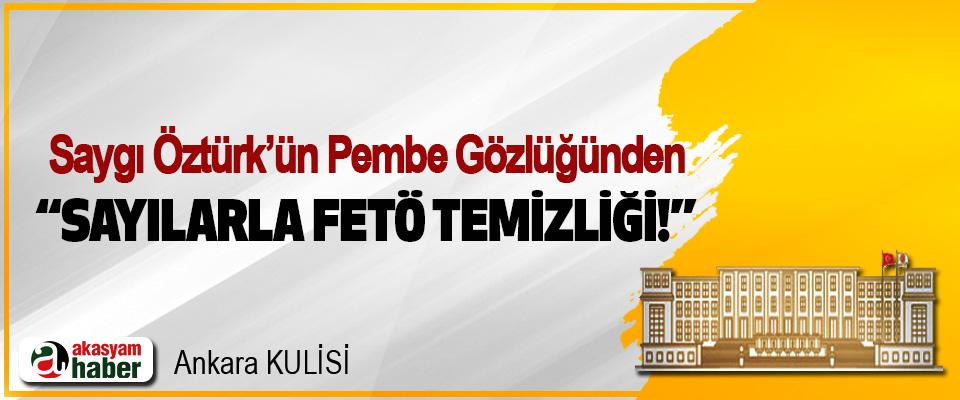 """Saygı Öztürk'ün Pembe Gözlüğünden """"Sayılarla FETÖ temizliği!"""""""