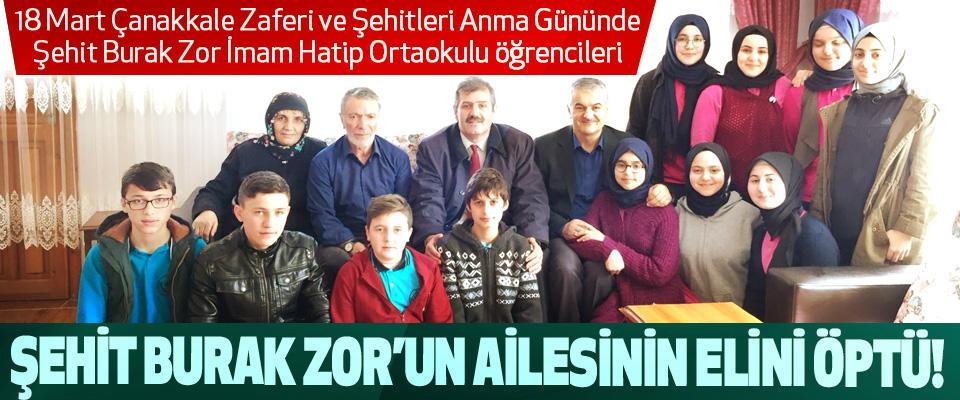 Şehit Burak Zor İmam Hatip Ortaokulu öğrencileri Şehit burak zor'un ailesinin elini öptü!
