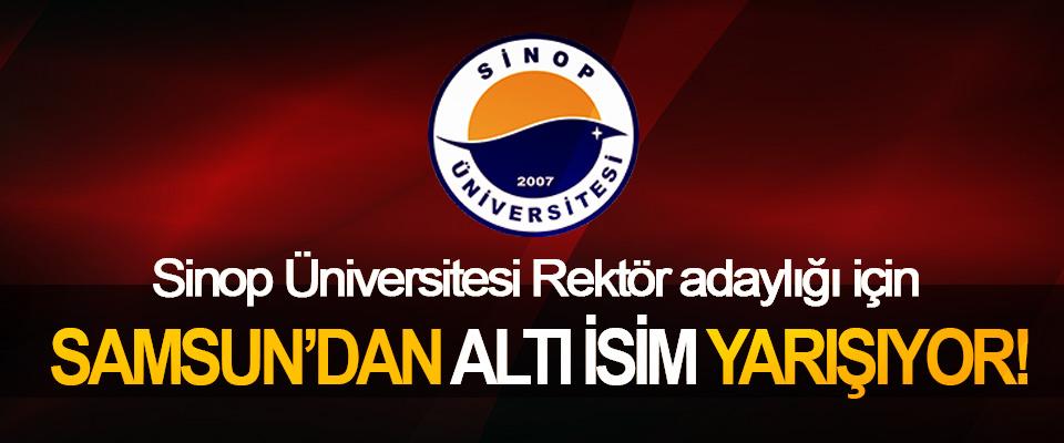 Sinop Üniversitesi Rektör adaylığı için Samsun'dan altı isim yarışıyor!