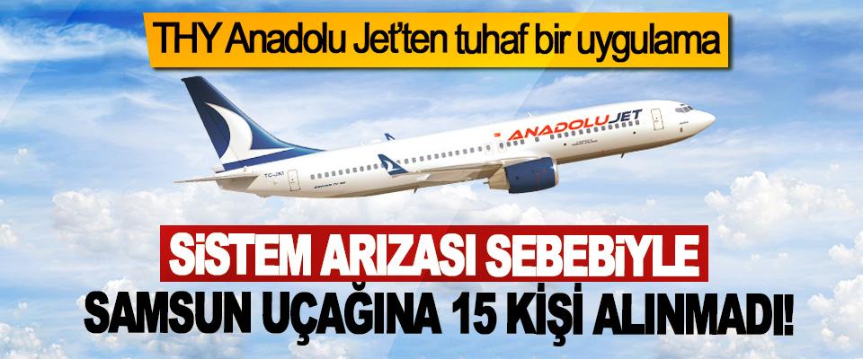 Sistem arızası sebebiyle Samsun uçağına 15 kişi alınmadı!