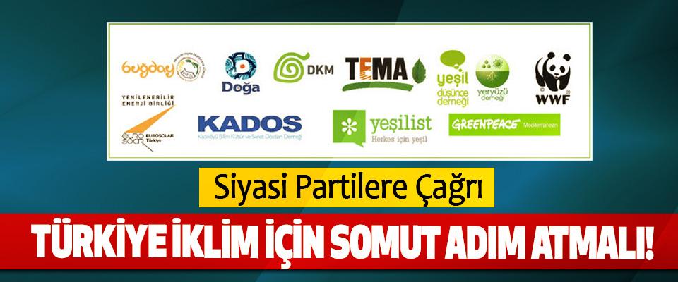 Siyasi Partilere Çağrı, Türkiye iklim için somut adım atmalı!