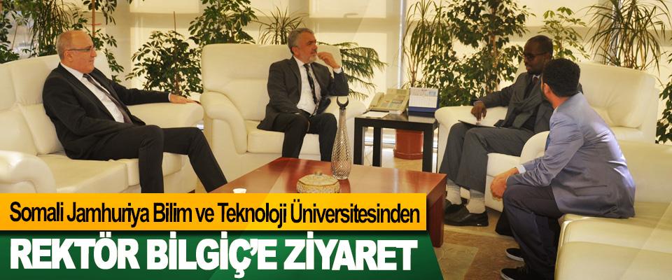 Somali Jamhuriya Bilim ve Teknoloji Üniversitesinden  Rektör Bilgiç'e Ziyaret