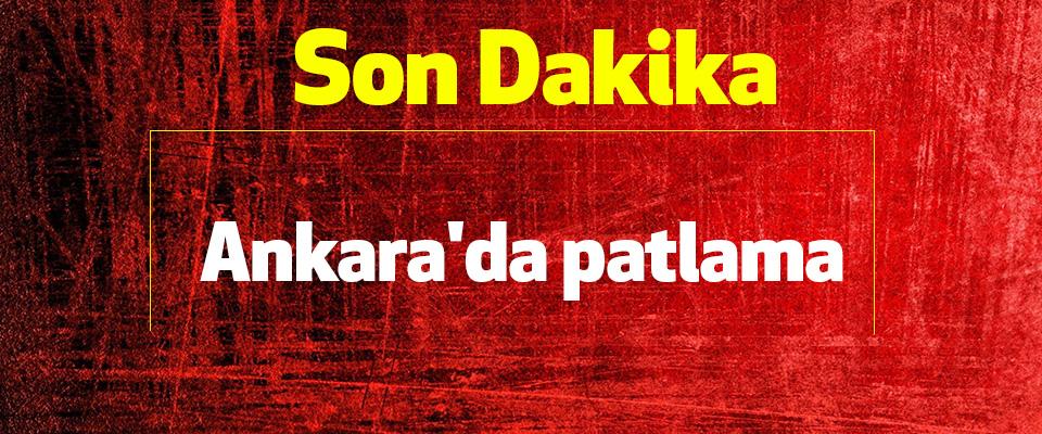 Son Dakika: Ankara'da patlama