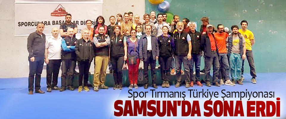 Spor Tırmanış Türkiye Şampiyonası Samsun'da Sona Erdi