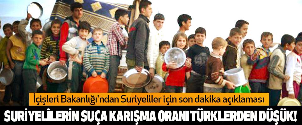 Suriyelilerin suça karışma oranı türklerden düşük!