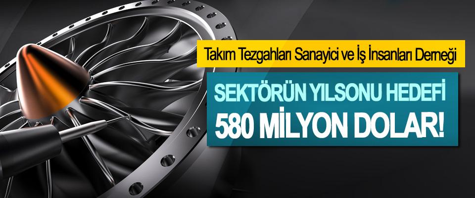 Takım Tezgahları Sanayici ve İş İnsanları Derneği; Sektörün yılsonu hedefi 580 milyon dolar!
