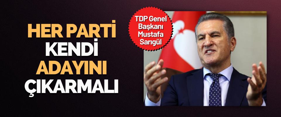 TDP Genel Başkanı Mustafa Sarıgül