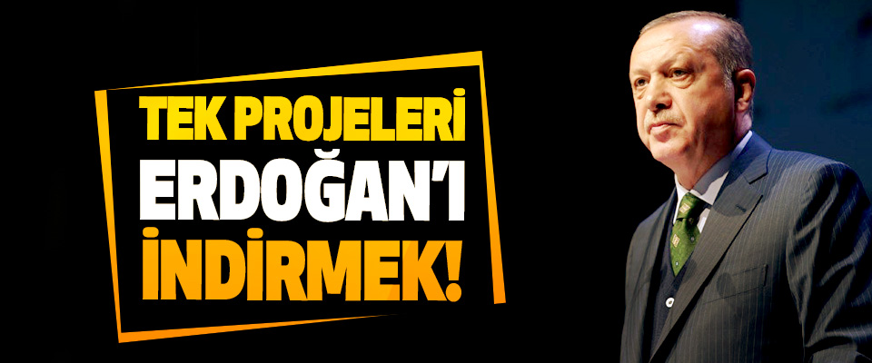 Tek projeleri Erdoğan'ı indirmek!