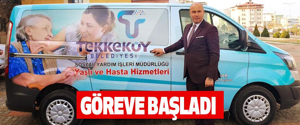 Tekkeköy Belediyesi Yaşlı ve Hasta Hizmetleri aracı Göreve Başladı
