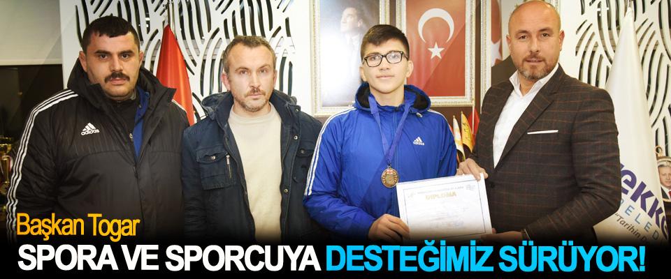 Tekkeköy Belediyesi spora ve sporcuya her alanda desteğini sürdürüyor.