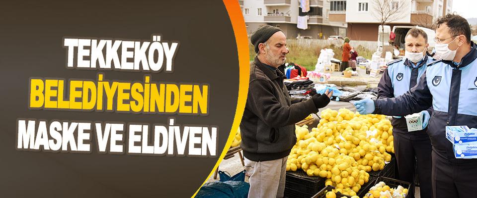 Tekkeköy Belediyesinden Maske Ve Eldiven