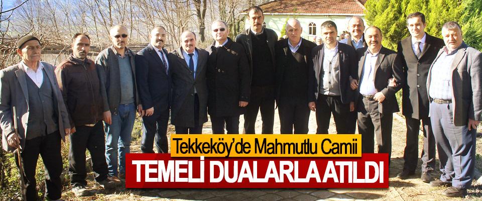 Tekkeköy'de Mahmutlu Camii Temeli Dualarla Atıldı