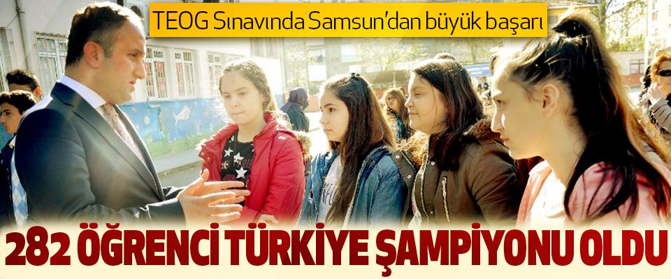Teog Sınavında Samsun'dan 282 Öğrenci Türkiye Şampiyonu Oldu