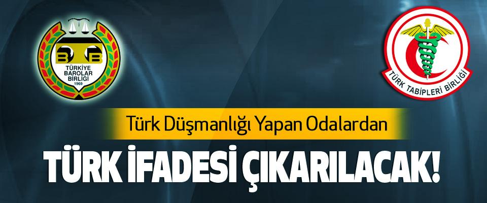 Türk Düşmanlığı Yapan Odalardan Türk ifadesi çıkarılacak!