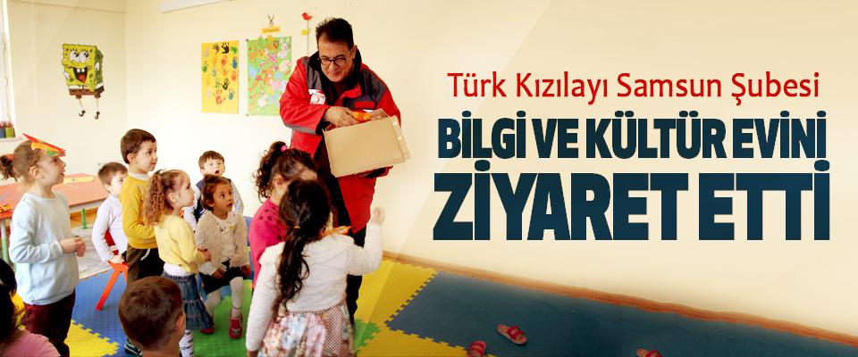 Türk Kızılayı Samsun Şubesi Bilgi Ve Kültür Evini Ziyaret Etti