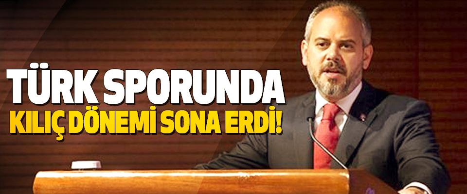 Türk sporunda kılıç dönemi sona erdi!