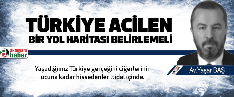 Türkiye Acilen Bir Yol Haritası Belirlemeli