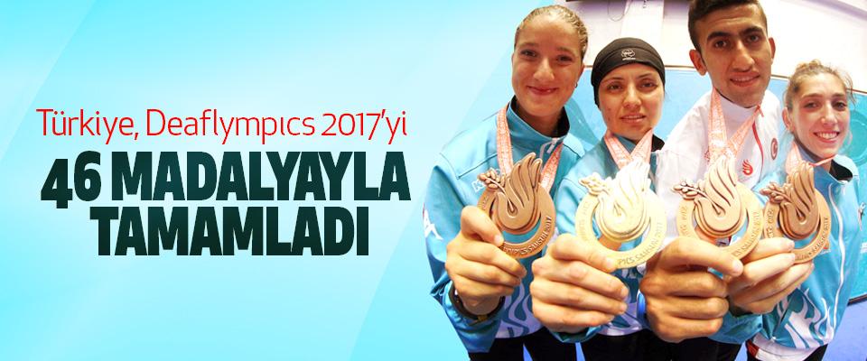 Türkiye, Deaflympıcs 2017'yi 46 madalyayla tamamladı