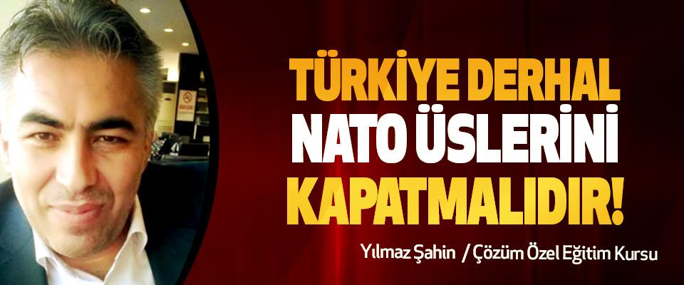 Türkiye Derhal NATO Üslerini Kapatmalıdır!
