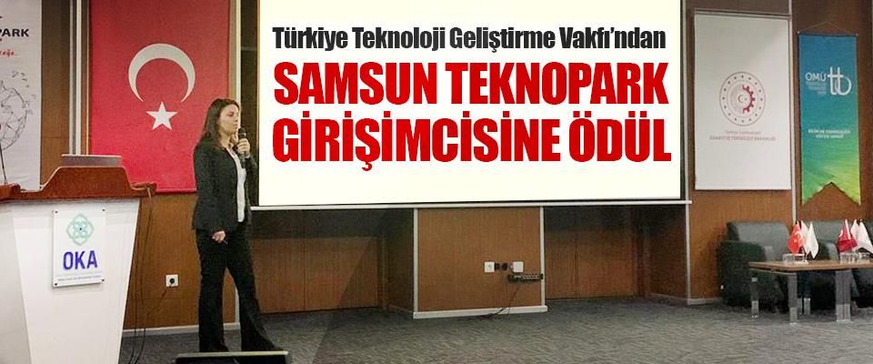 Türkiye Teknoloji Geliştirme Vakfı'ndan Samsun Teknopark Girişimcisine Ödül
