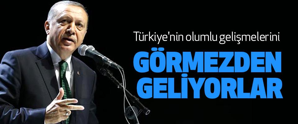 Türkiye'nin olumlu gelişmelerini görmezden geliyorlar