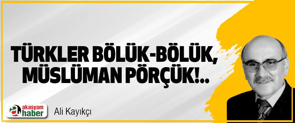 Türkler bölük-bölük, müslüman pörçük!..