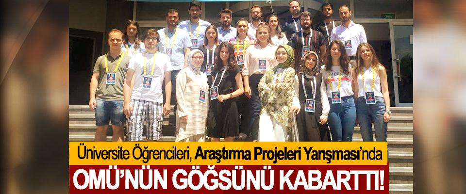 Üniversite Öğrencileri, Araştırma Projeleri Yarışması'nda OMÜ'nün Göğsünü Kabarttı!