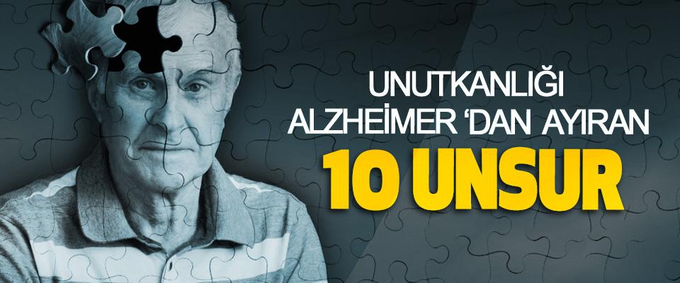 Unutkanlığı Alzheimer'dan Ayıran 10 Unsur