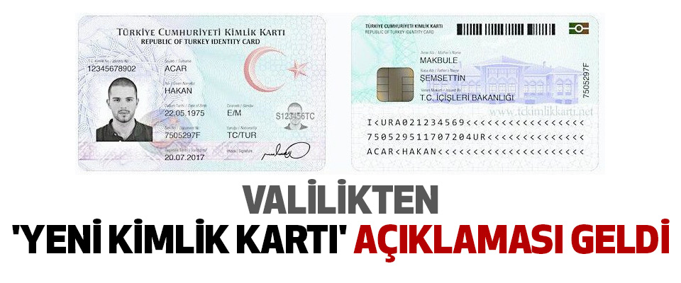 Valilikten 'yeni kimlik kartı' açıklaması geldi
