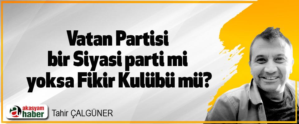 Vatan Partisi bir Siyasi parti mi yoksa Fikir Kulübü mü?
