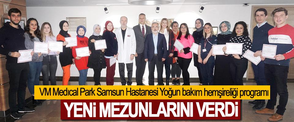 VM Medıcal Park Samsun Hastanesi Yoğun bakım hemşireliği programı Yeni Mezunlarını Verdi