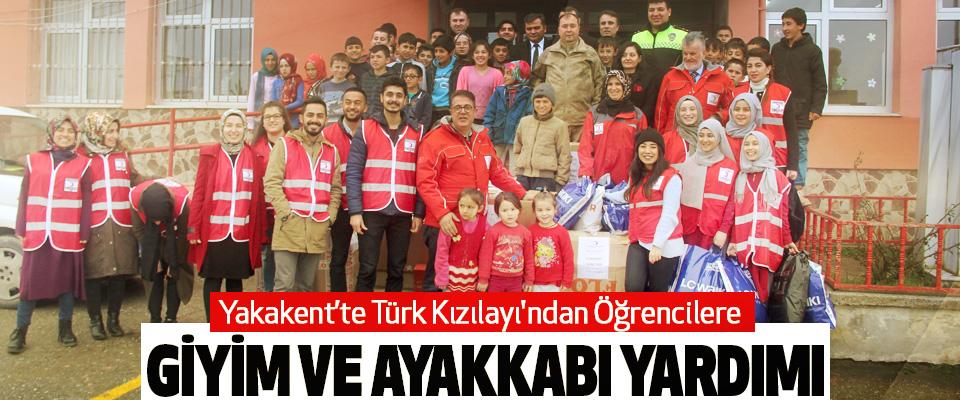 Yakakent'te Türk Kızılayı'ndan Öğrencilere Giyim Ve Ayakkabı Yardımı