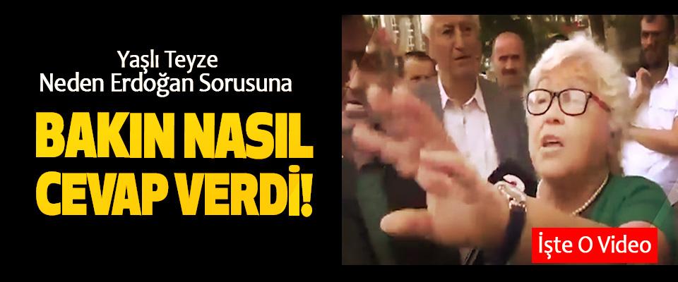 Yaşlı Teyze Neden Erdoğan Sorusuna Bakın Nasıl Cevap Verdi!