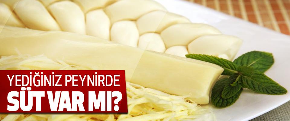 Yediğiniz peynirde süt var mı?