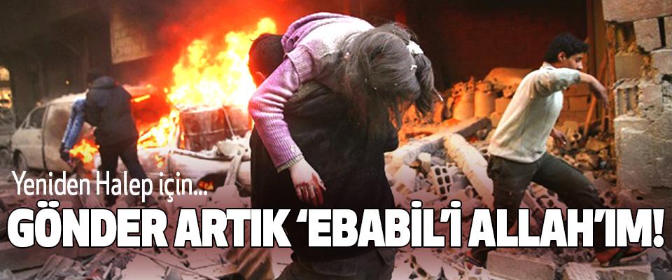 """Yeniden Halep için... Gönder artık """"ebabil""""i allah'ım!"""