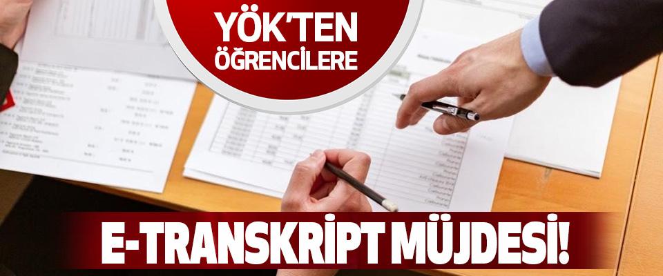 YÖK'ten Öğrencilere e-transkript Müjdesi!