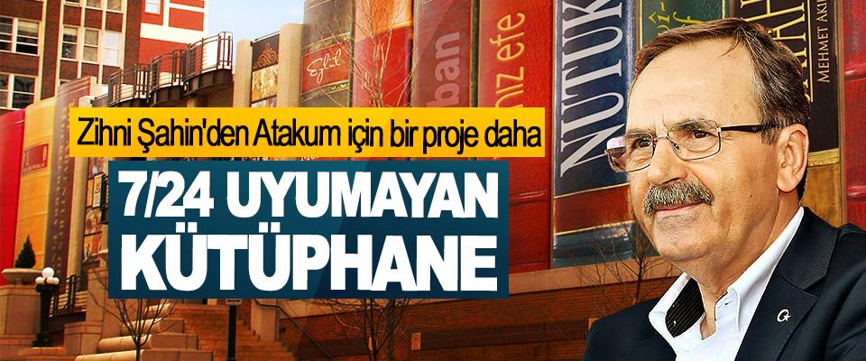 Zihni Şahin'den Atakum için bir proje daha; 7/24 Uyumayan Kütüphane!..