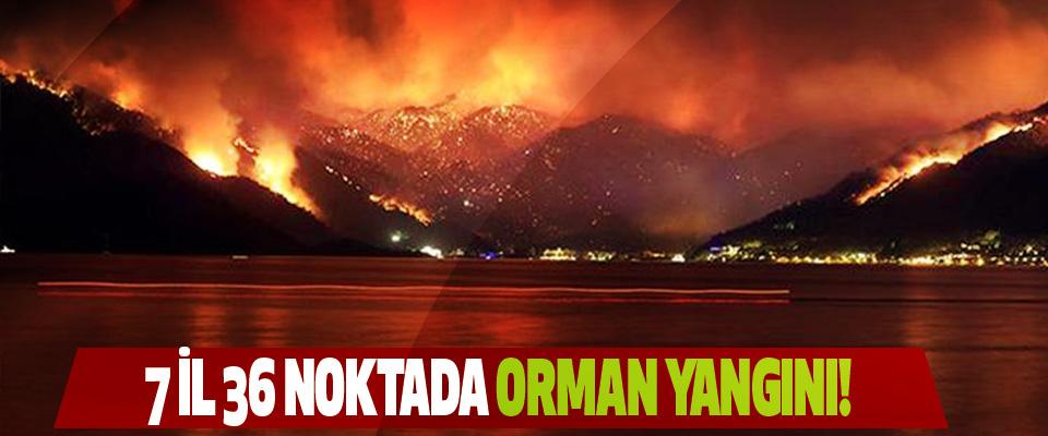 7 İl 36 Noktada Orman Yangını!