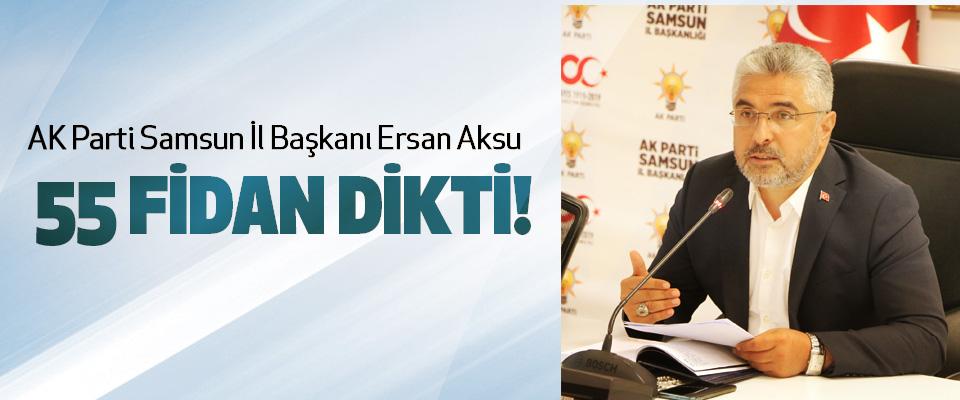 AK Parti Samsun İl Başkanı Ersan Aksu 55 fidan dikti!