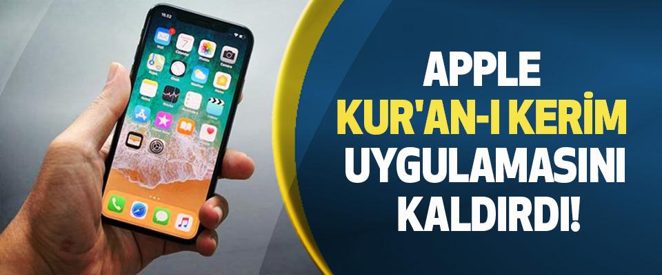 Apple kur'an-ı kerim uygulamasını kaldırdı!