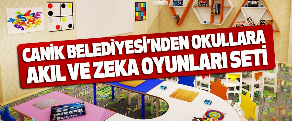 Canik Belediyesi'nden Okullara Akıl Ve Zeka Oyunları Seti