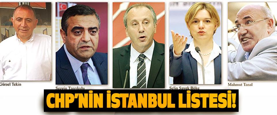 CHP'nin İstanbul Listesi!