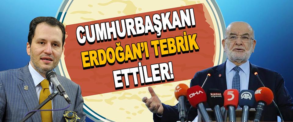 Cumhurbaşkanı Erdoğan'ı Tebrik Ettiler!