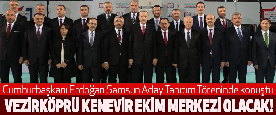 Cumhurbaşkanı Erdoğan: Vezirköprü Kenevir Ekim Merkezi olacak!