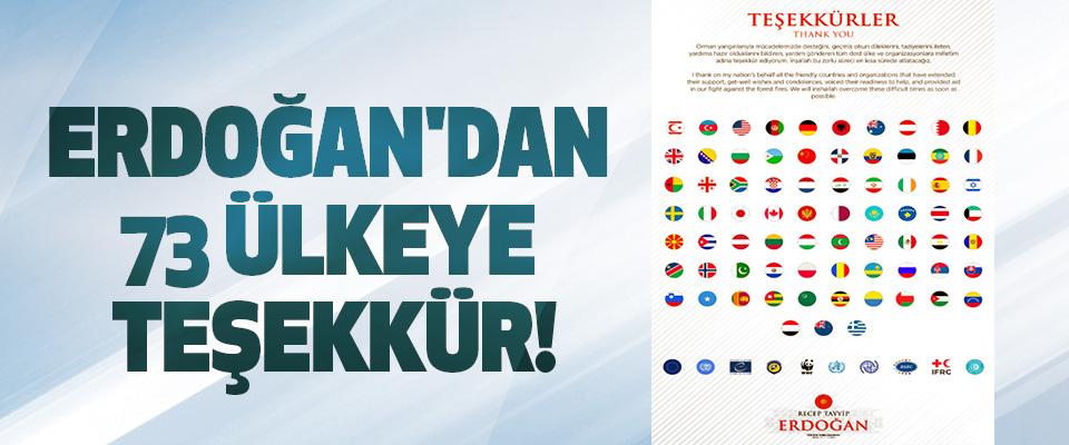 Erdoğan'dan 73 Ülkeye Teşekkür!