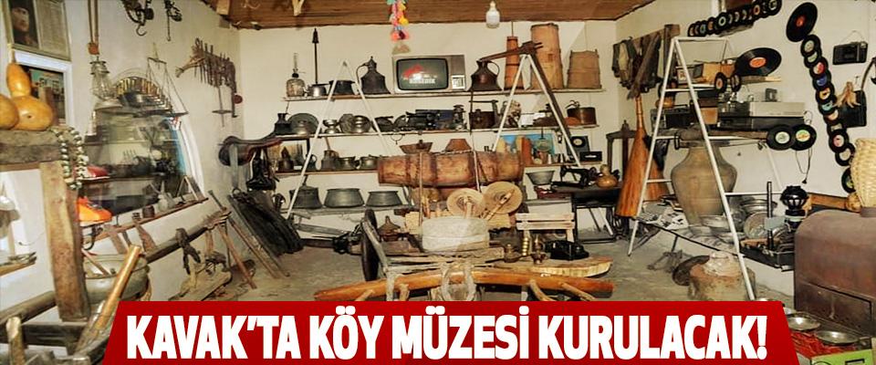 Kavak'ta köy müzesi kurulacak!